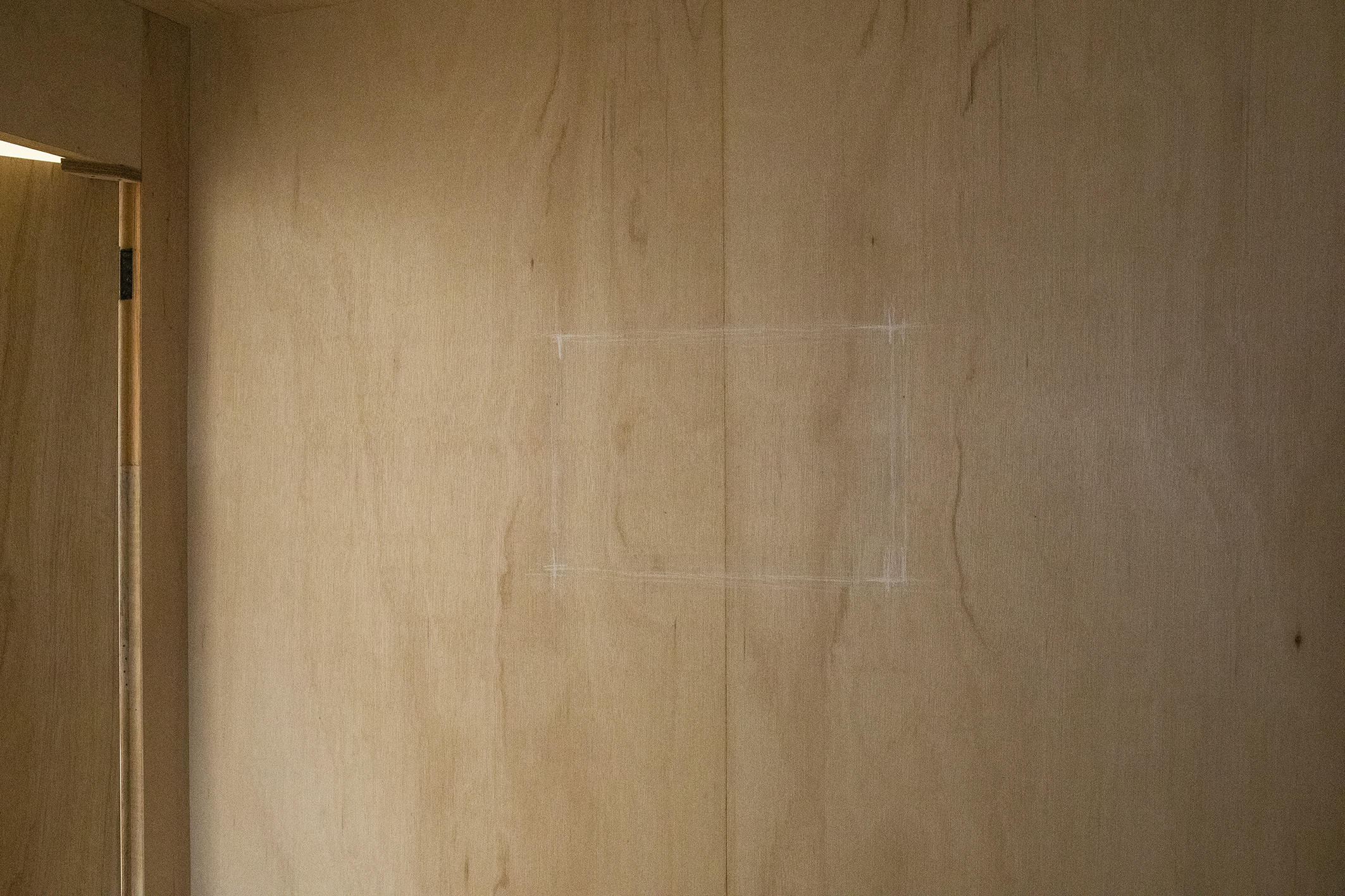 Nowhere, Site specific (chalk), Dimensions variable, 2021